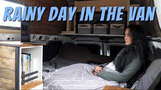 Van life/ What I do on rainy days inside my tiny house? Solo female traveler