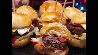 Рецепт мини-бургеров с мясной котлетой | Мини бургеры на шпажках