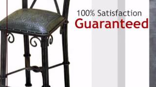 Western Iron Sage Green Barstool With Back - Colonial - Set Of 2 - Lonestarwesterndecor.com