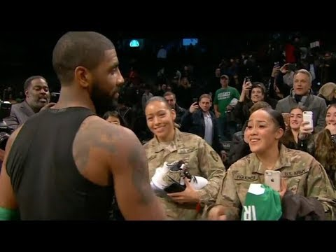 Kyrie Irving Gives His Jersey and Sneakers to US Military After Beating the Nets