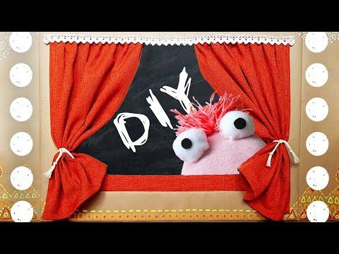 Настольный кукольный театр своими руками из бумаги шаблоны