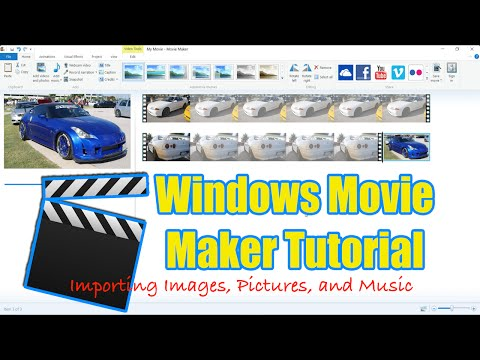 Windows Movie Maker Tutorial  Importing , Images, and Music