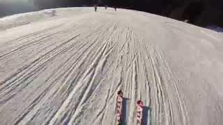 Skiing on Amazzonia (black run), Jan. 2015 - Madonna di Campiglio (Italy)