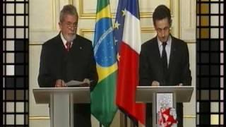 Tics et mimiques Sarkozy et Lula