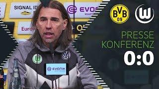 """""""Fahren glücklich nach Hause""""   Pressekonferenz   Borussia Dortmund - VfL Wolfsburg"""