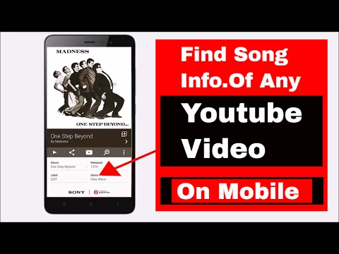 Find song from youtube video | Identify song info right from your mobile