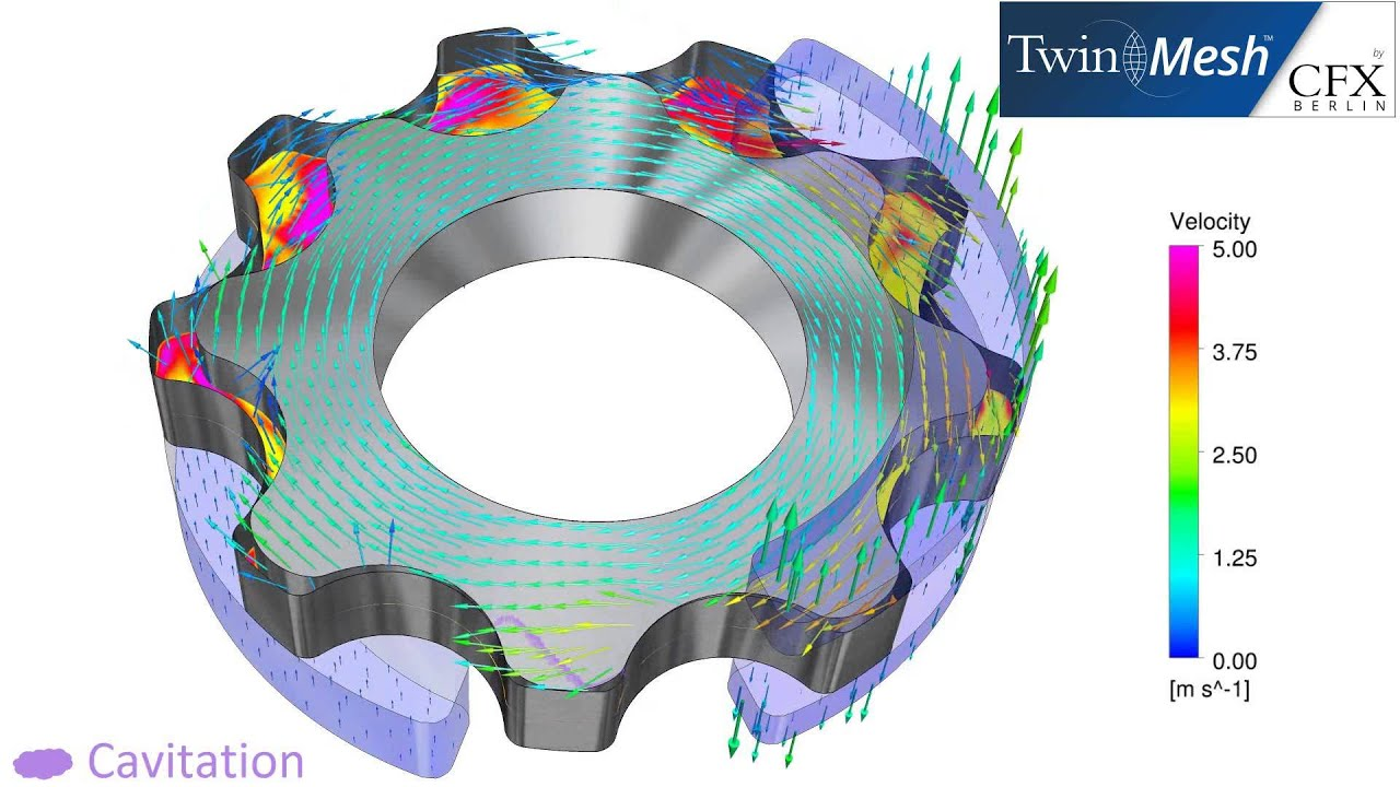 Cfx Berlin Video Cfd Analysis Results Of A Gerotor Pump