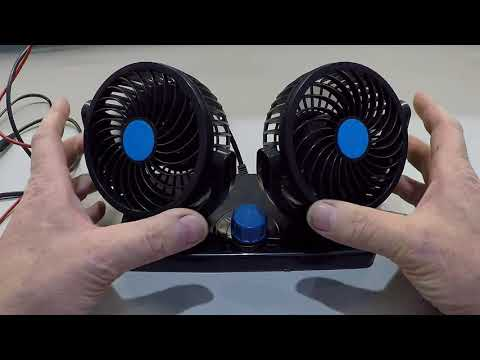 First Test Of A Dual Head Car Fan From Amazon