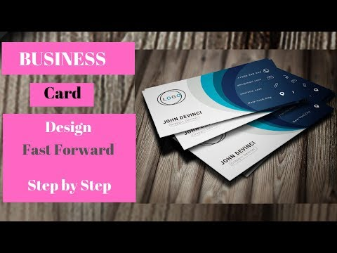 Modern Business Card - Tutorial 2019 || Photoshop || Full Design-fast Forward thumbnail