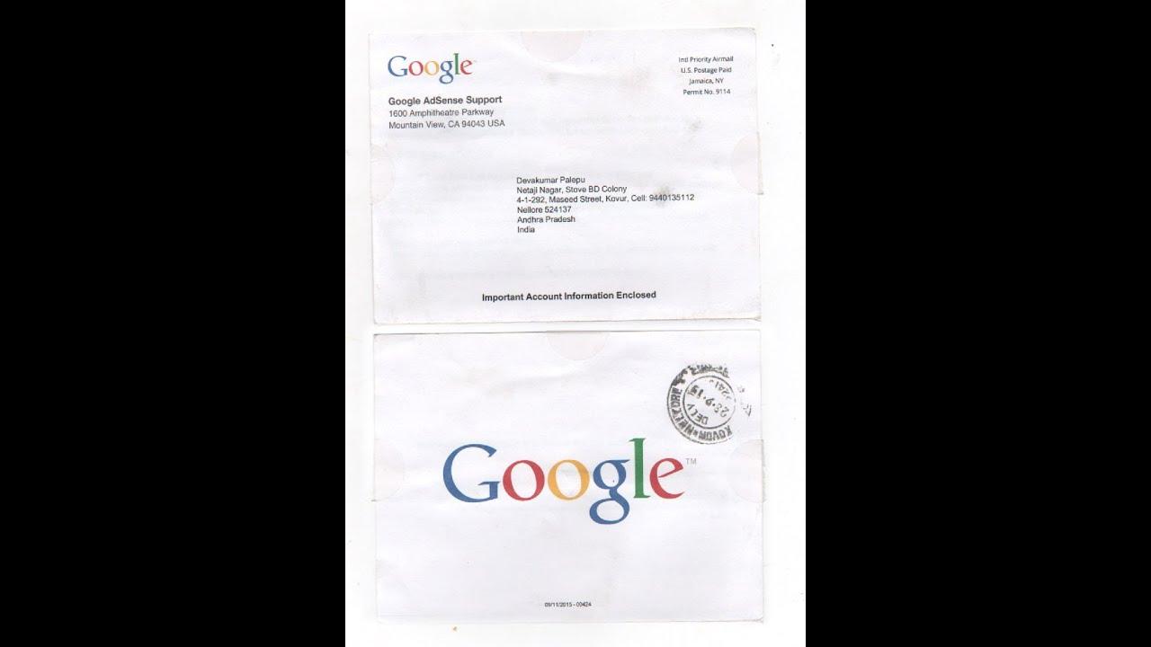 Adsense Address Verification Process Letter Received - YouTube