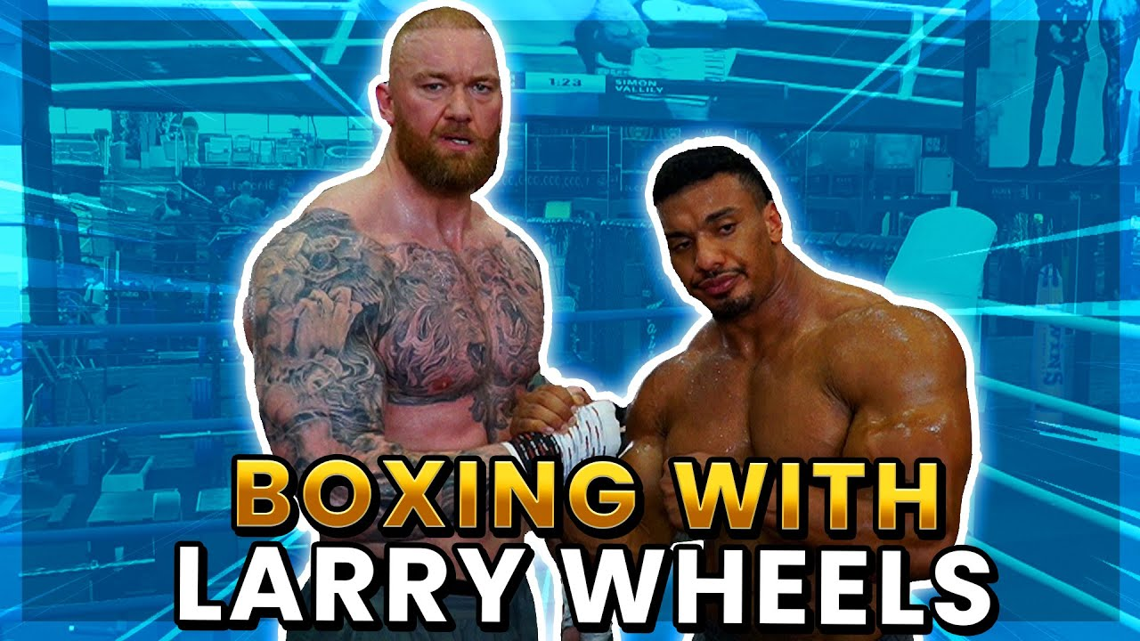 BOXING TRANING WITH LARRY WHEELS!