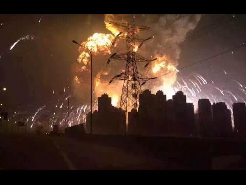 HUGE EXPLOSION IN CHINA ALL ANGLES COMPILATION HD