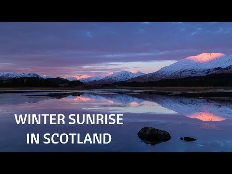 Photographing a winter sunrise in Scotland with landscape photography tips