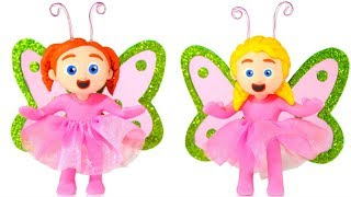 Princesses Wearing Butterfly Costumes ❤ PLAY DOH CARTOONS FOR KIDS