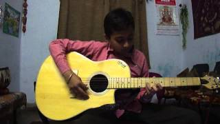 Yeh Ladka Hai Allah on guitar by Sagar