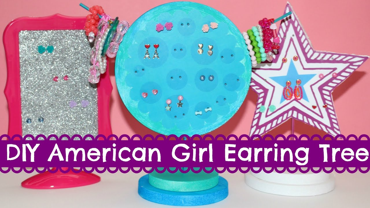 DIY American Girl Doll Earring Tree - YouTube
