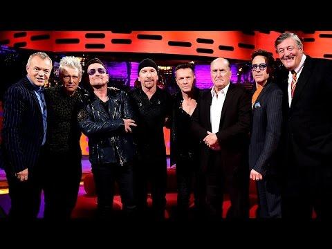 Robert Downey Jr, Robert Duvall, Stephen Fry & U2 on Graham Norton, 2014 - русские субтитры