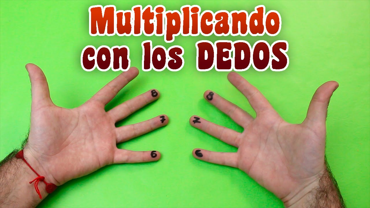 Como multiplicar con los dedos - YouTube