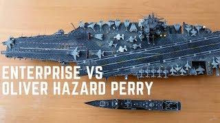 Enterprise vs Oliver Hazard Perry 1/350 Scale Model Fleet