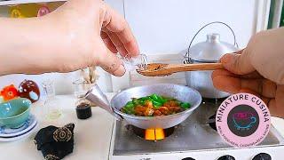 ASMR MINI COOKING: TOFU & STRING BEANS ADOBO | REAL FUNCTION KITCHEN SET