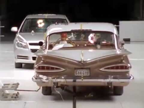 2009 Chevy Malibu Vs 1959 Bel Air Crash Test Youtube