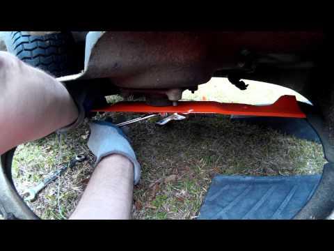 How to Change Husqvarna Riding Lawn Mower Blades