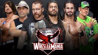 WWE Wrestlemania 36 Dream Match Cards 2020