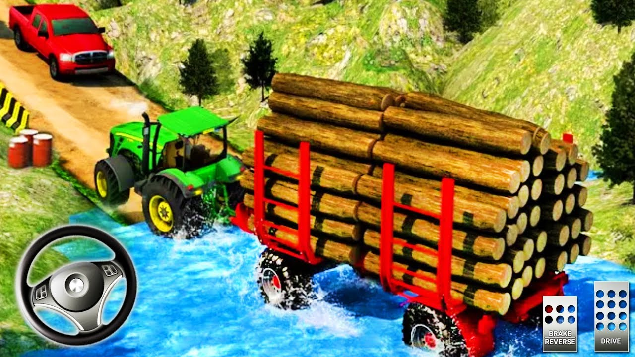 Real Tractor Trolley Driver – Offroad Cargo Driving Simulator – Best Android GamePlay