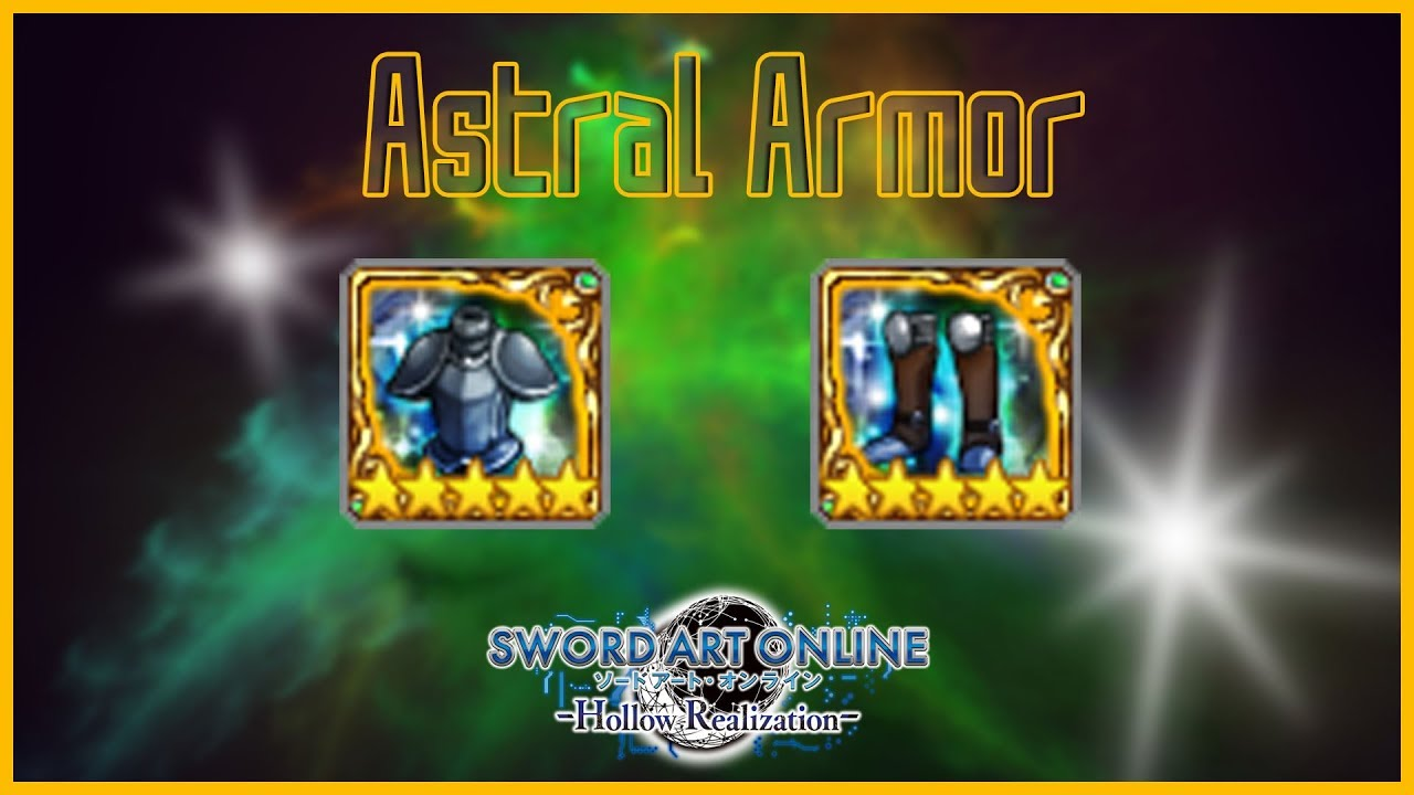 Astral Armors - Sword Art Online: Hollow Realization