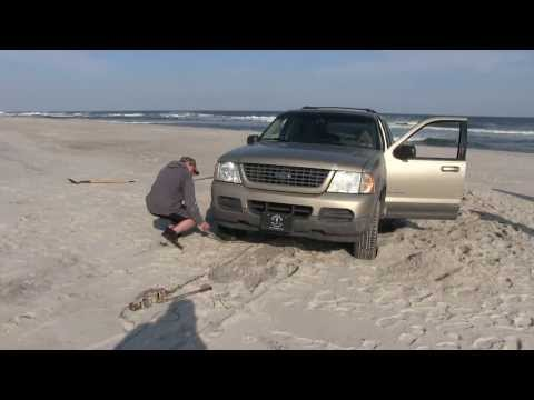 Come-along pull out of stuck vehicle