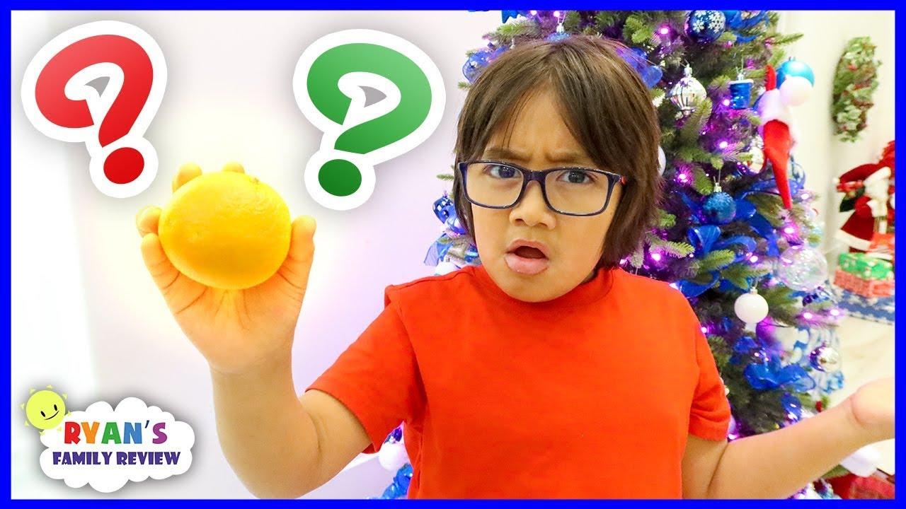 Ryan Got An Orange For Christmas Ryan S Family Christmas Special 2019 Youtube