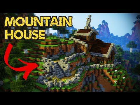 Minecraft - Mountain House Tutorial (Minecraft House)