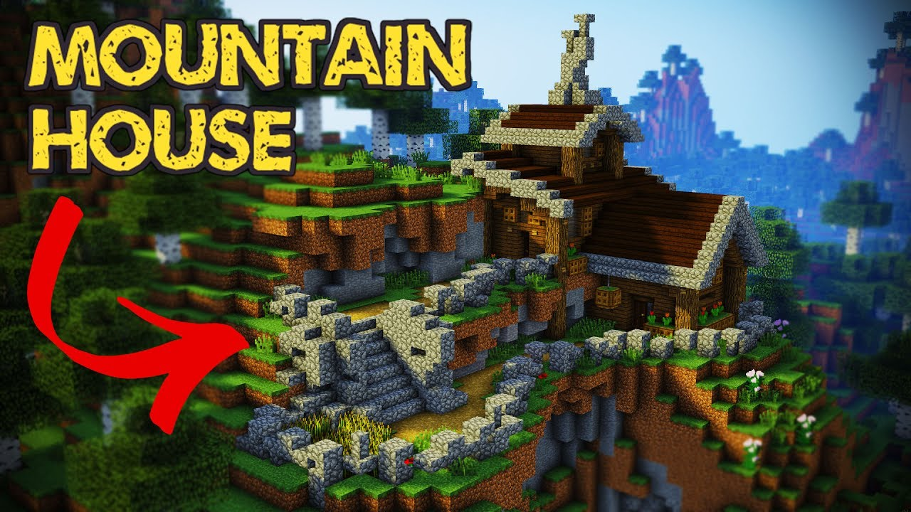 Minecraft - Mountain House Tutorial  Minecraft House