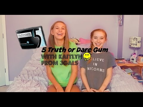 Gum truth or dare challenge with kaitlyn youtube