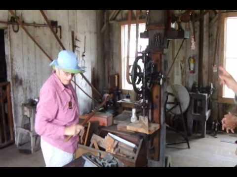 Machine Shop run by a Pelton Turbine Water Wheel