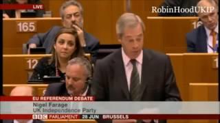 Nigel Farages klare Worte im EU-Parlament zu BREXIT ernten Buhrufe und Proteste #eu #brexit #farage
