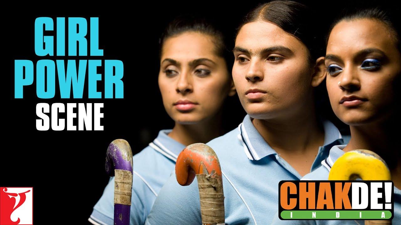 scene girl power chak de india shah rukh khan youtube