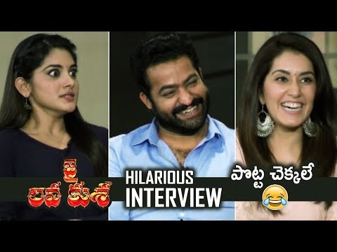 Jai Lava Kusa Team Hilarious Interview | Jr NTR | Nivetha Thomas | Raashi Khanna | TFPC