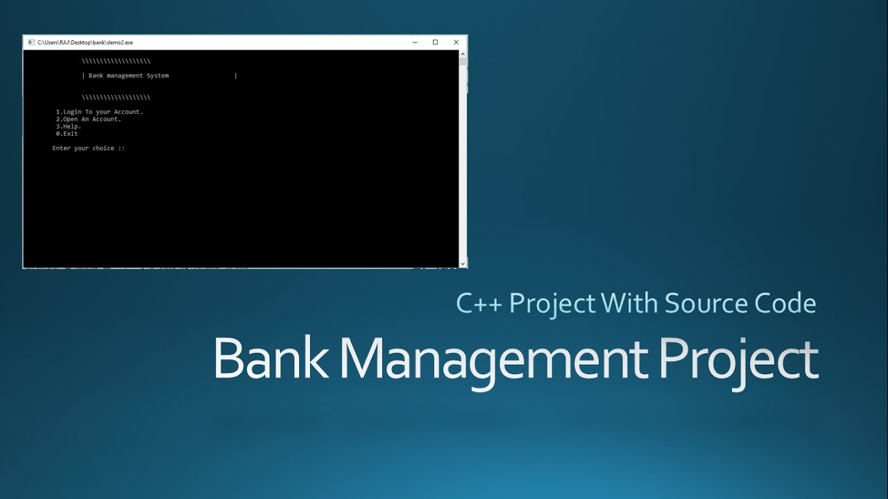 C Project With Source Code Bank Management System Cool