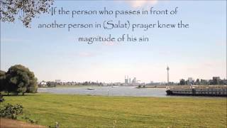 Hadith on sin of passing in front of a praying person. Sahih Al Bukhari