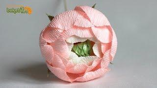 Пионы из конфет и гофрированной бумаги ☆ Цветы из бумаги ☆ Мастер-класс ☆