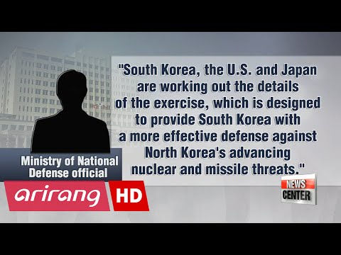 S. Korea, U.S., Japan to hold first trilateral missile defense drills against N. Korea