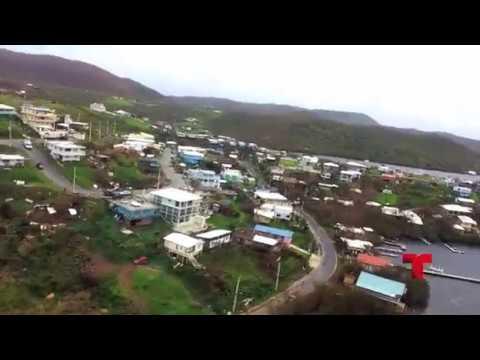 Recorrido aéreo por Culebra  Puerto Rico despues del paso de Huracan Maria