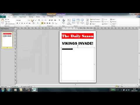 Setting up newspaper in publisher