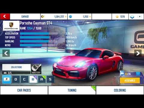 Unlocking the Porsche Cayman GT4 with 35 blueprints in Asphalt 8! (Mobile gameplay) (Part 1)