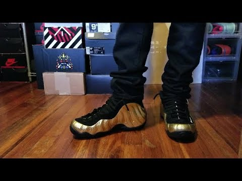 sports shoes fa330 72417 NIKE AIR FOAMPOSITE PRO METALLIC GOLD REVIEW + ON FEET