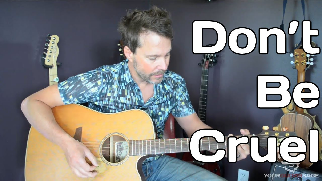 How To Play Dont Be Cruel By Elvis Presley Guitar Lesson Youtube