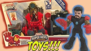 Toy Videos! Ironman Tony Stark Playset Unboxing and Review with Hulk and War Machine