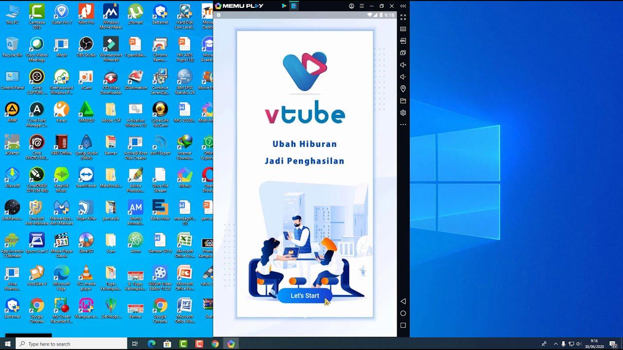 Instal Aplikasi Vtube Pada Laptop Solusi Bagi Yang Hp Lagi Bermasalah Youtube