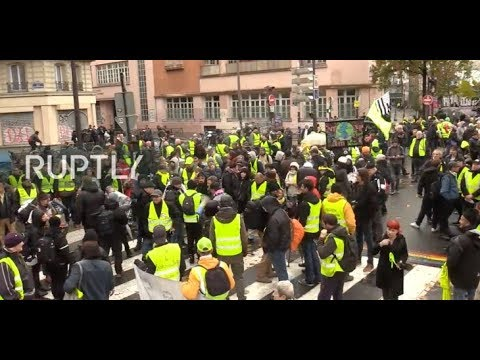 LIVE: Yellow Vests march in Paris one week after first anniversary